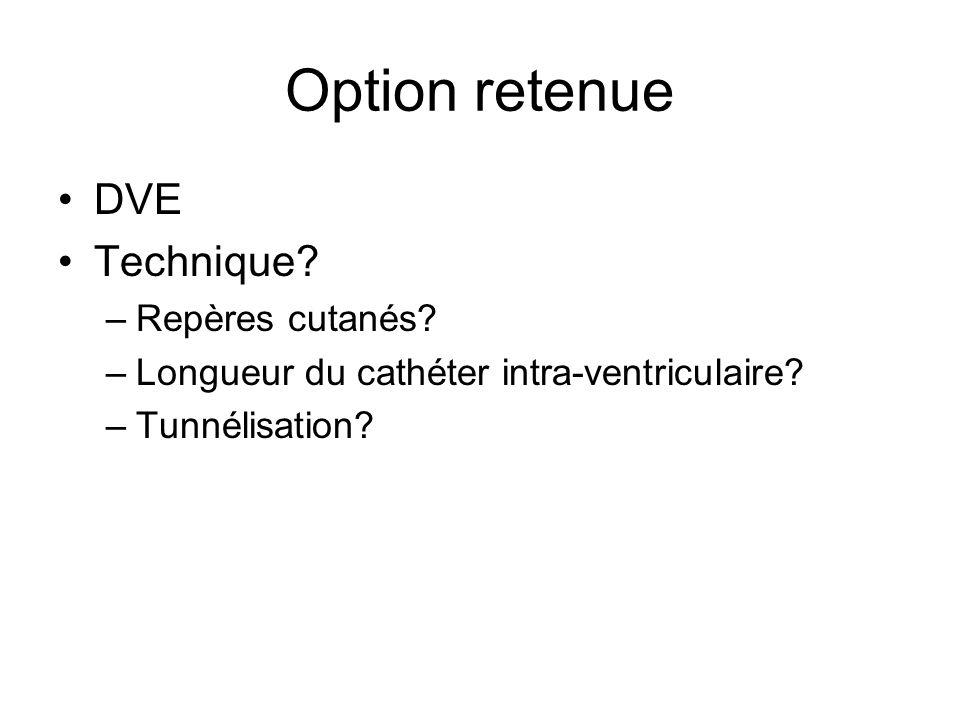 Option retenue DVE Technique Repères cutanés