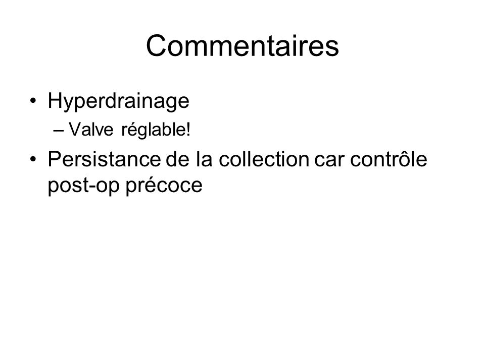 Commentaires Hyperdrainage