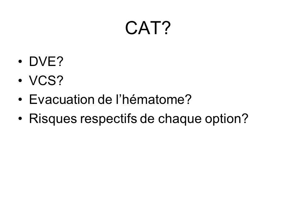 CAT DVE VCS Evacuation de l'hématome