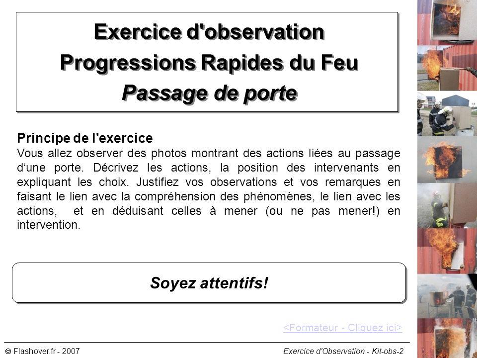 Exercice d observation Progressions Rapides du Feu