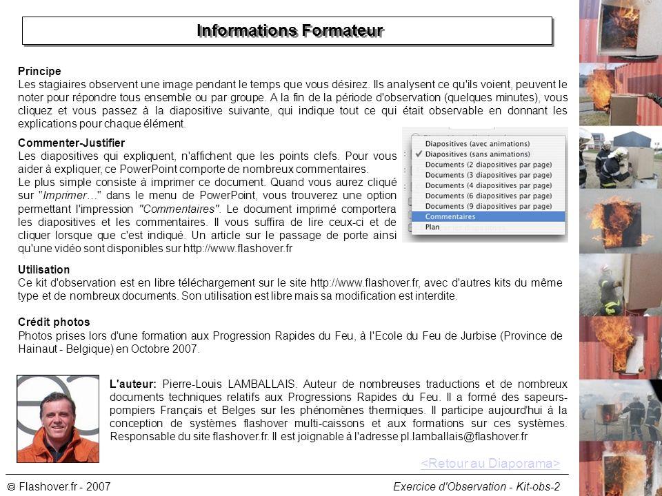 Informations Formateur