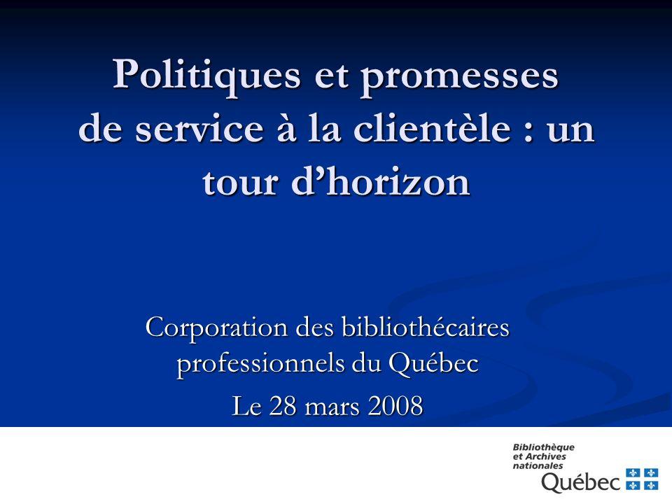 Politiques et promesses de service à la clientèle : un tour d'horizon