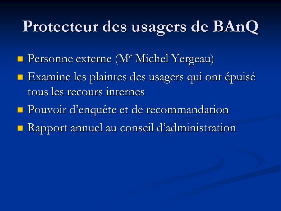 Protecteur des usagers de BAnQ