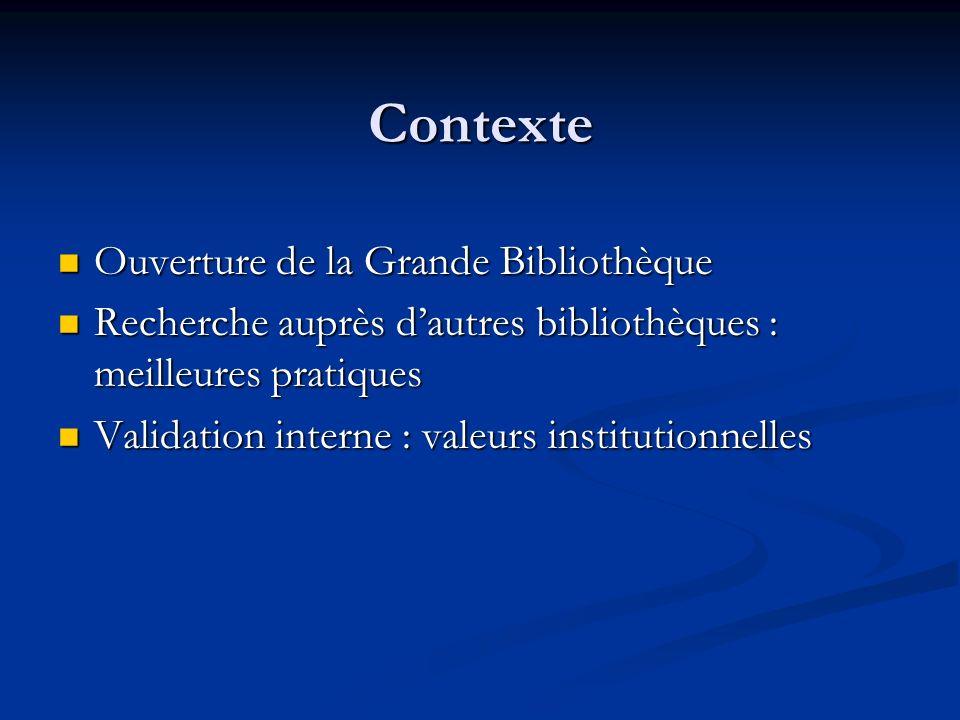 Contexte Ouverture de la Grande Bibliothèque