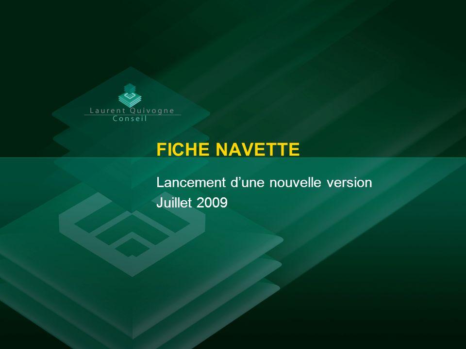 Lancement d'une nouvelle version Juillet 2009
