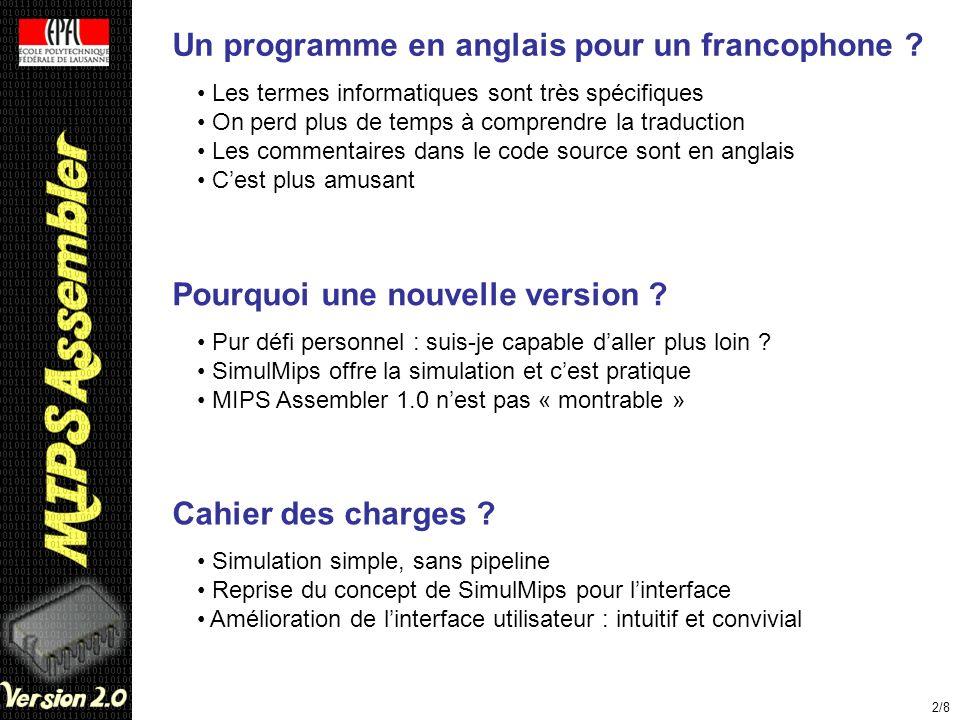 Un programme en anglais pour un francophone