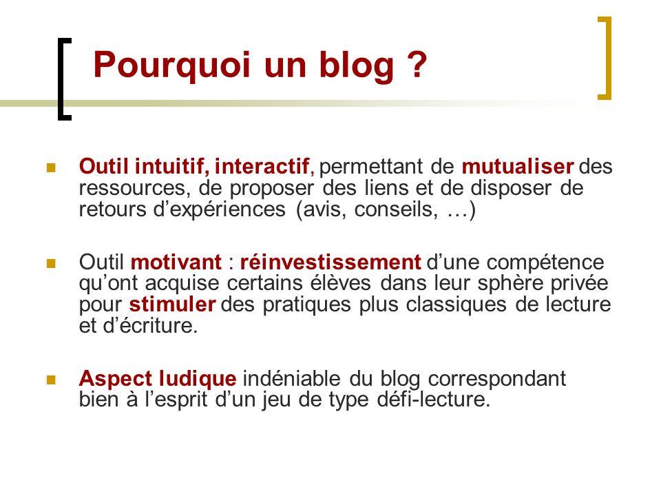 Pourquoi un blog
