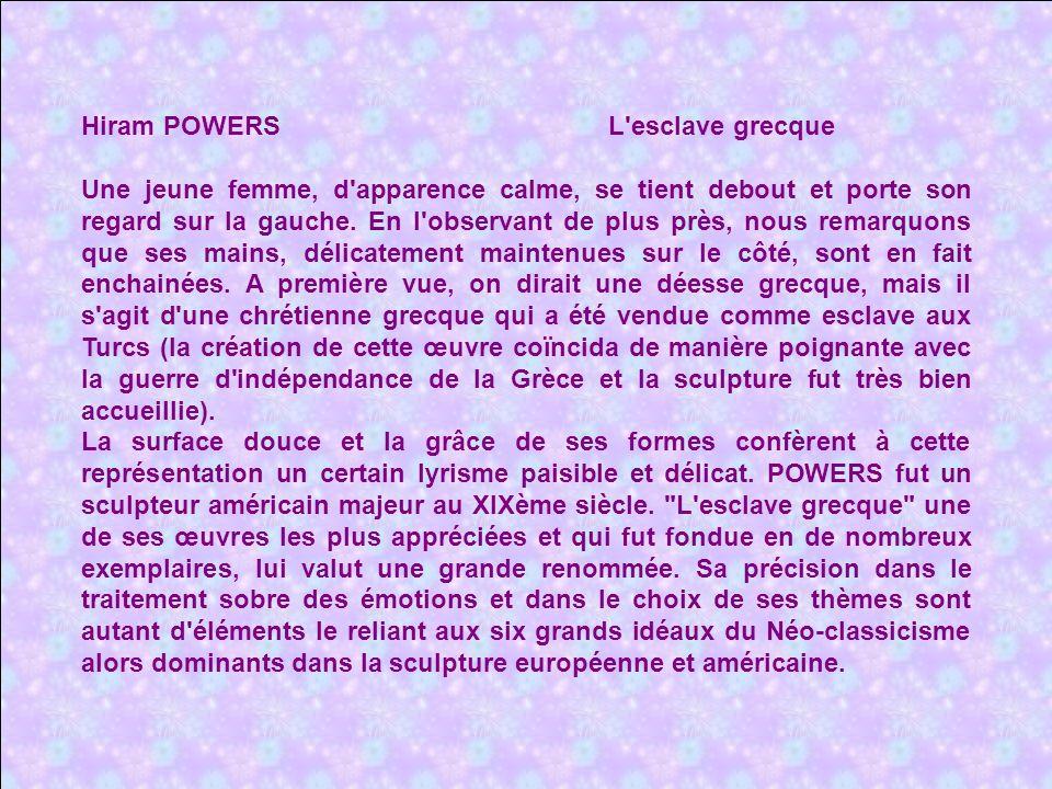 Hiram POWERS L esclave grecque