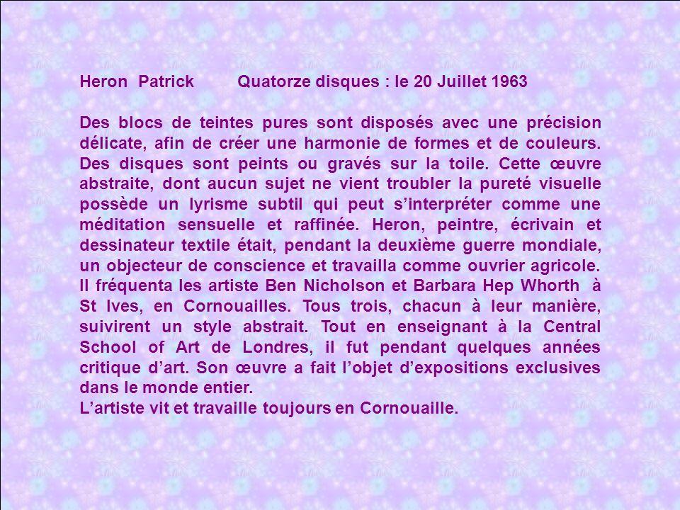 Heron Patrick Quatorze disques : le 20 Juillet 1963