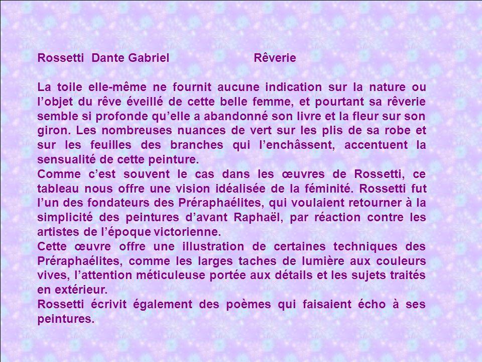 Rossetti Dante Gabriel Rêverie