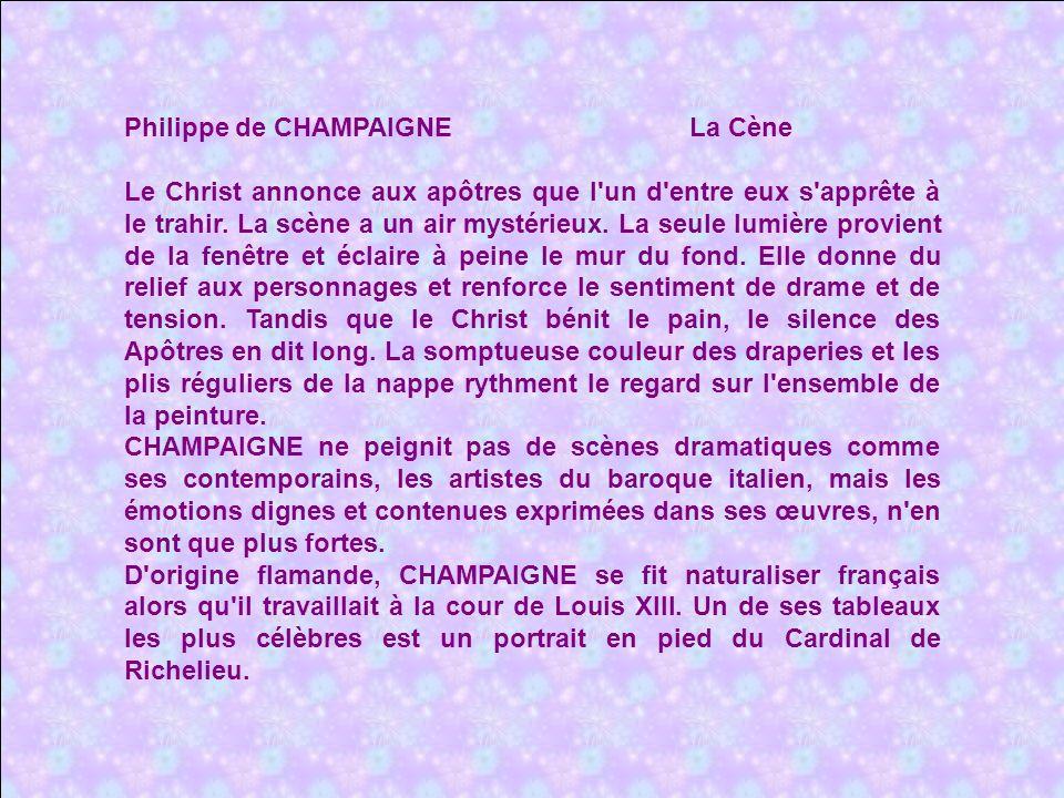 Philippe de CHAMPAIGNE La Cène