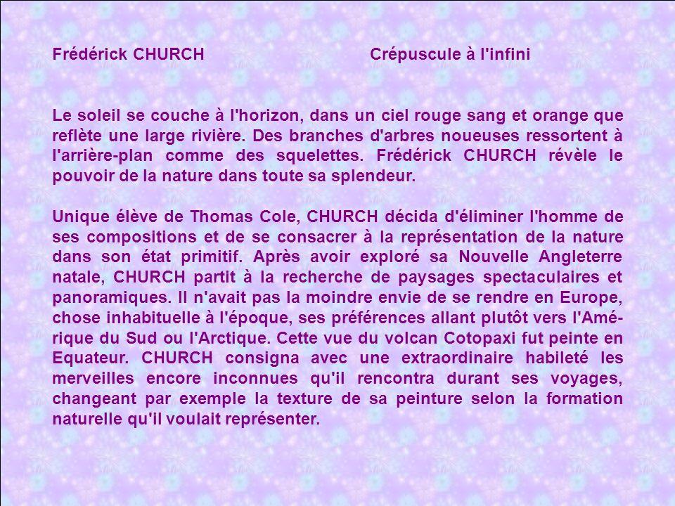 Frédérick CHURCH Crépuscule à l infini