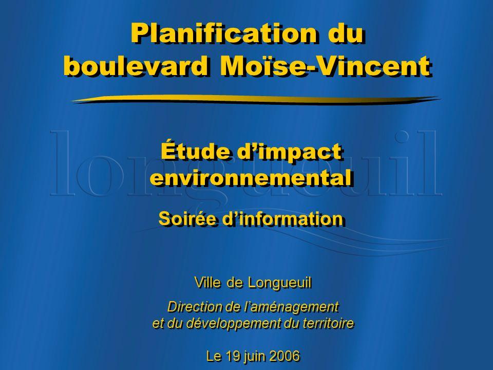 Planification du boulevard Moïse-Vincent