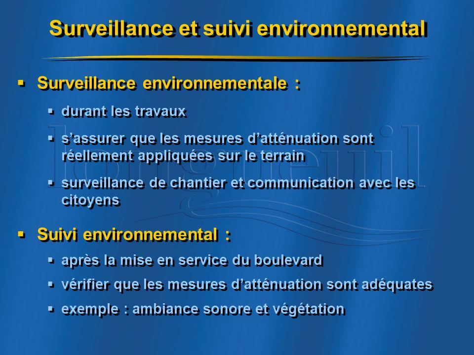 Surveillance et suivi environnemental
