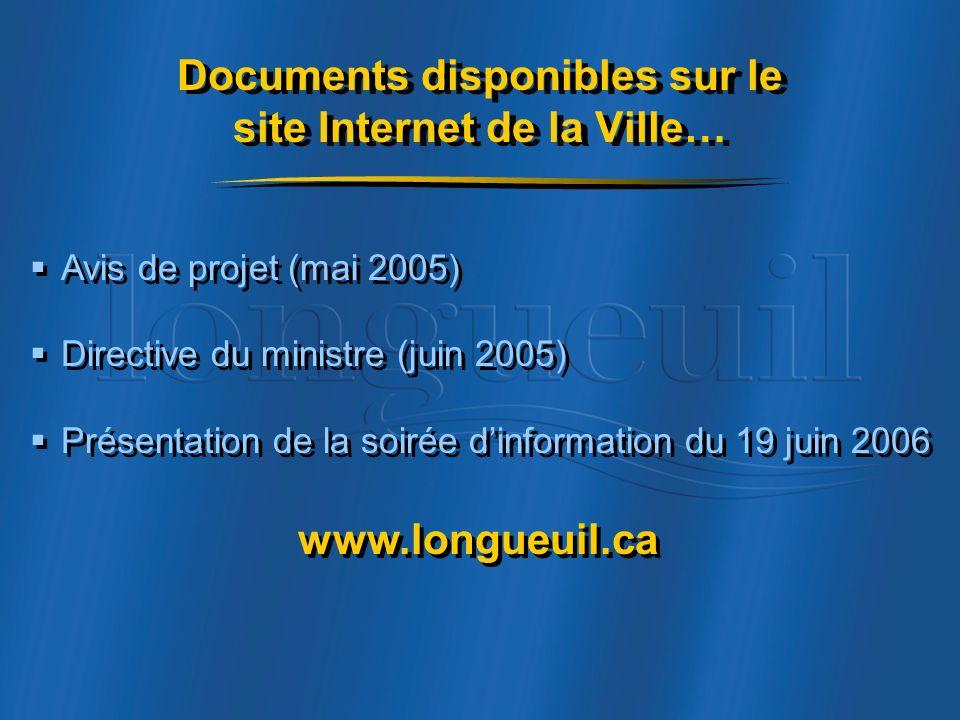 Documents disponibles sur le site Internet de la Ville…