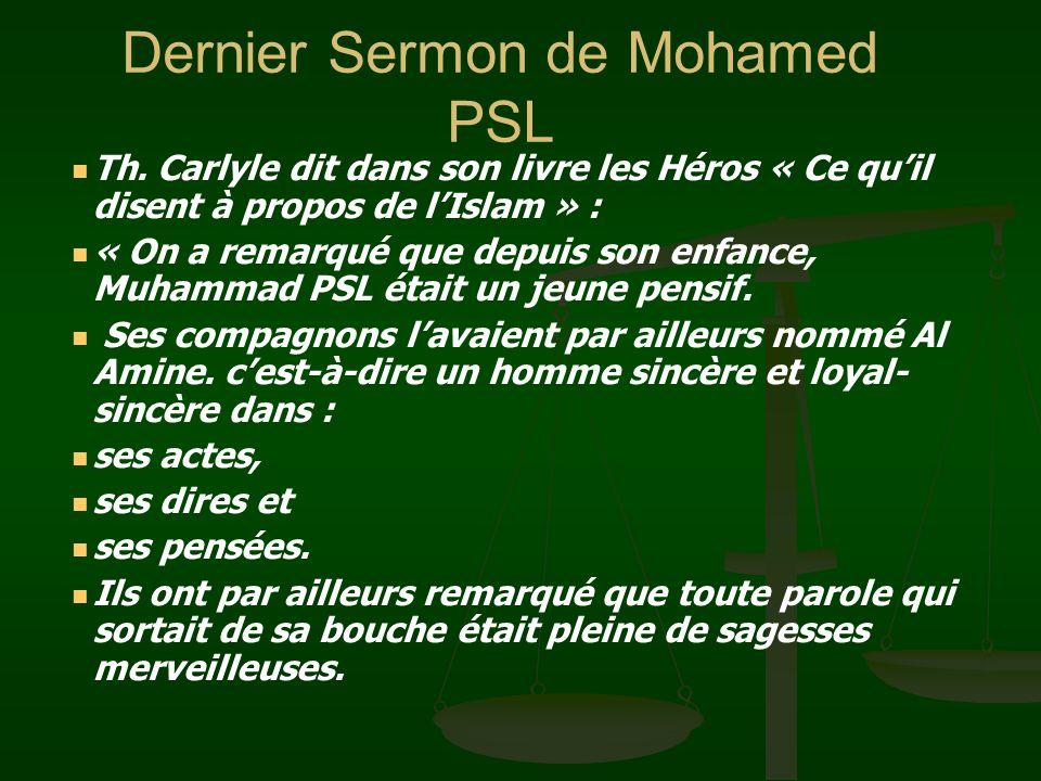 Dernier Sermon de Mohamed PSL