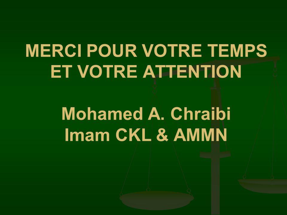 MERCI POUR VOTRE TEMPS ET VOTRE ATTENTION Mohamed A