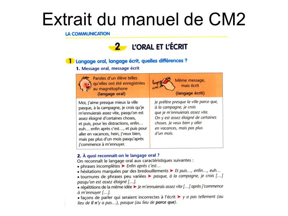 Extrait du manuel de CM2