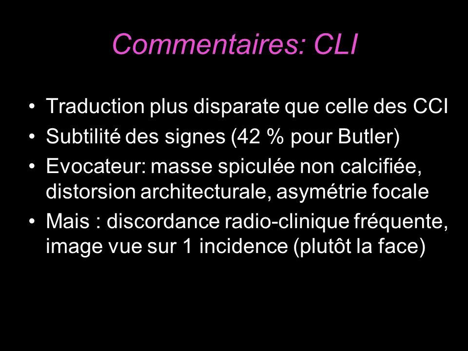 Commentaires: CLI Traduction plus disparate que celle des CCI