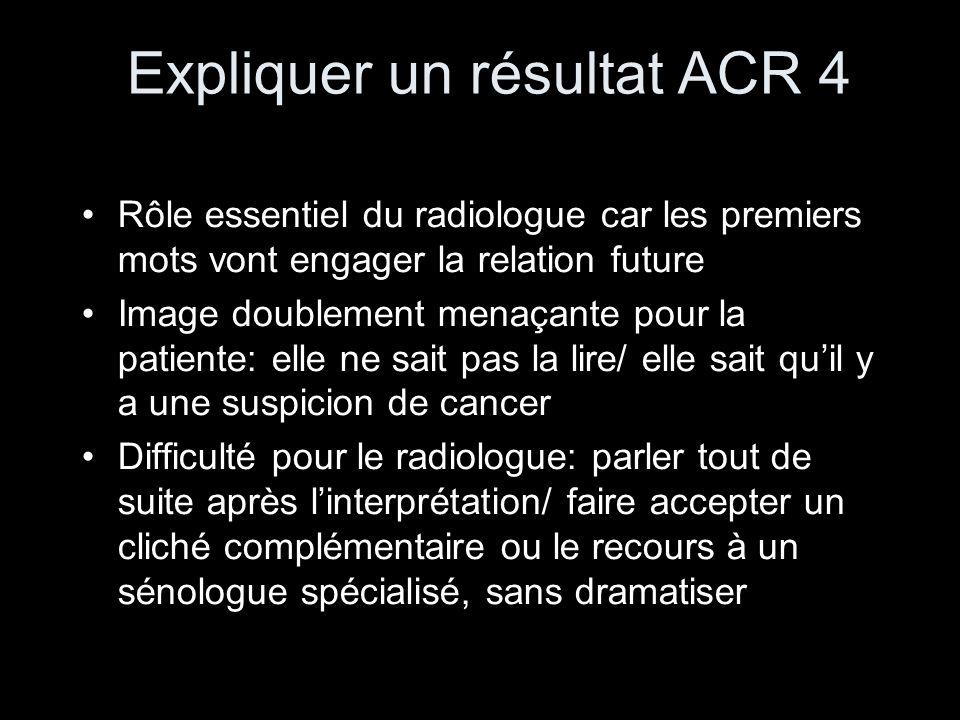 Expliquer un résultat ACR 4