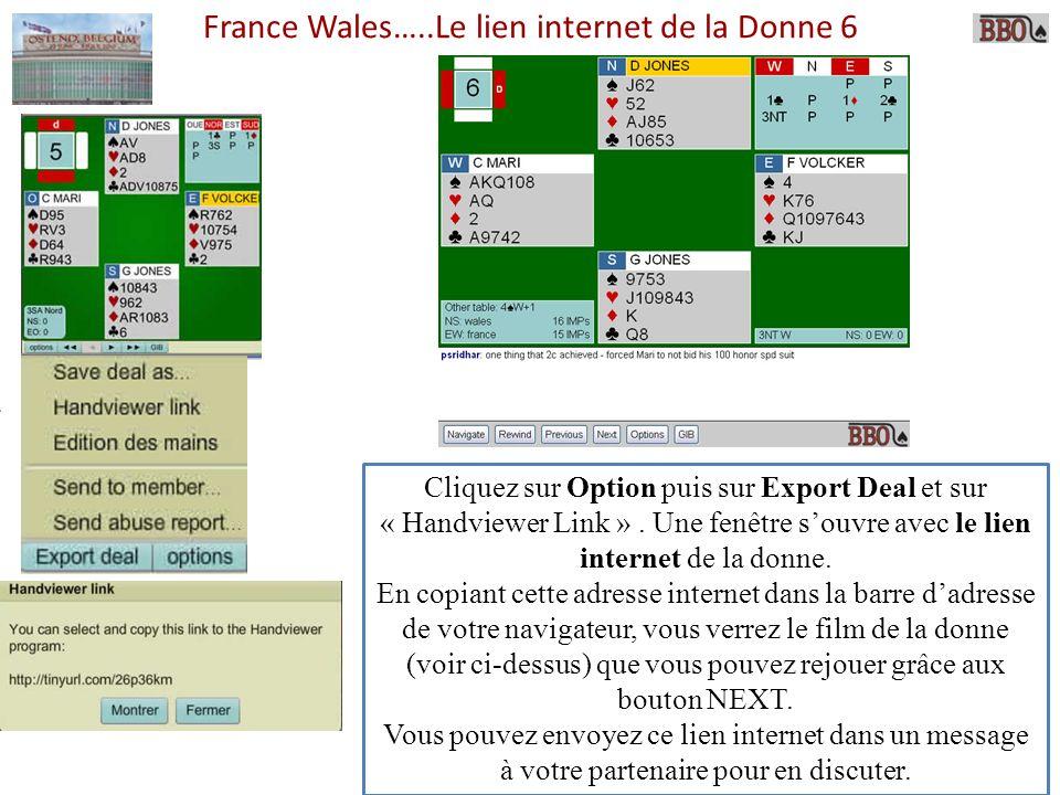 France Wales…..Le lien internet de la Donne 6