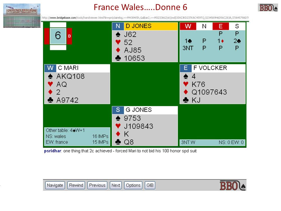 France Wales…..Donne 6