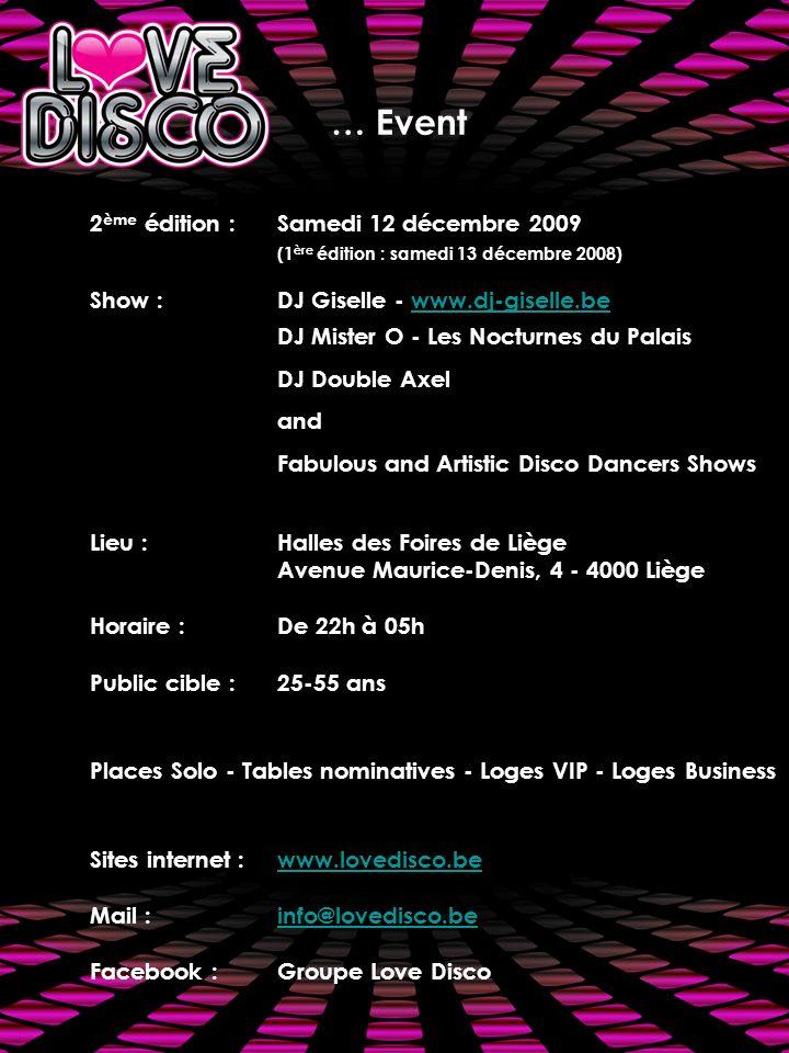 … Event 2ème édition : Samedi 12 décembre 2009