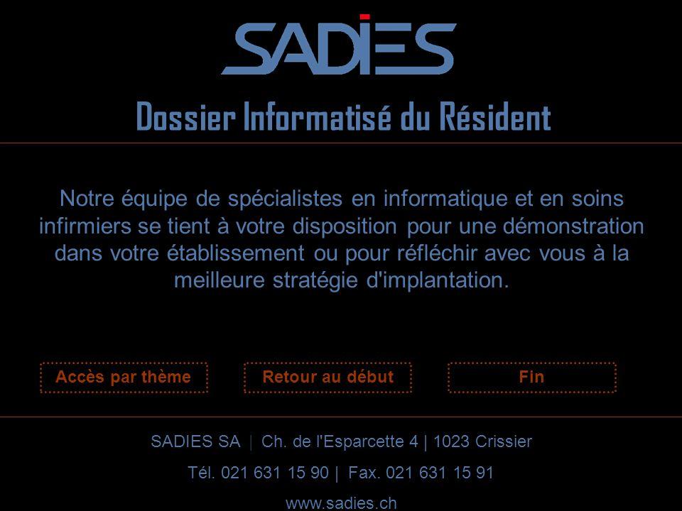 Dossier Informatisé du Résident