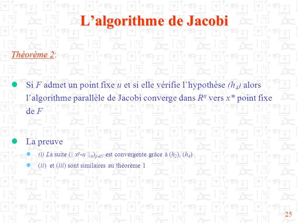 L'algorithme de Jacobi