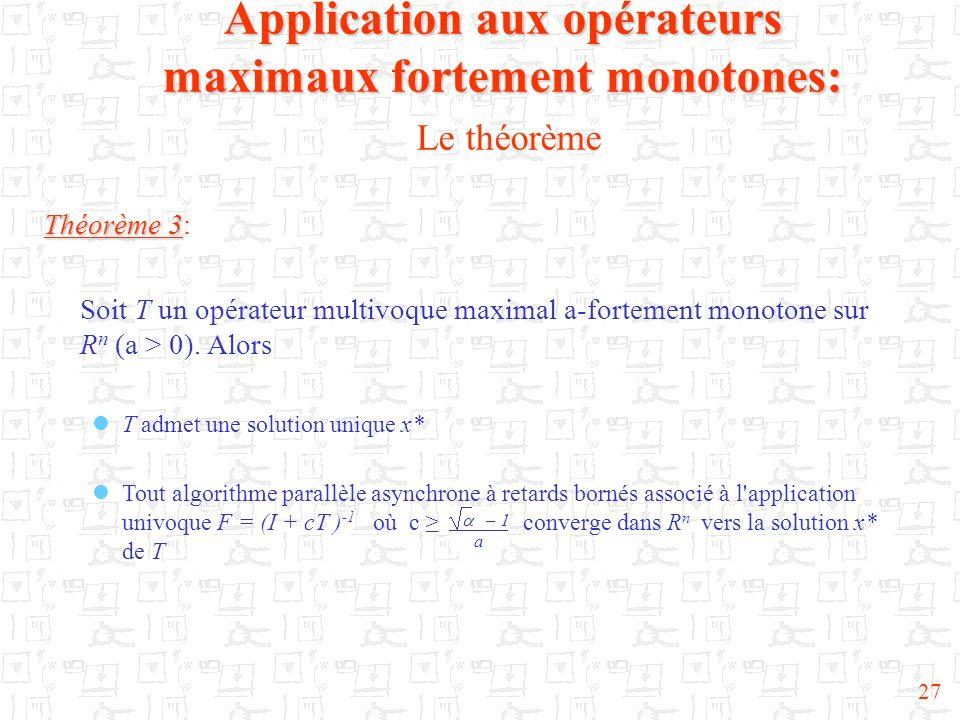 Application aux opérateurs maximaux fortement monotones: Le théorème
