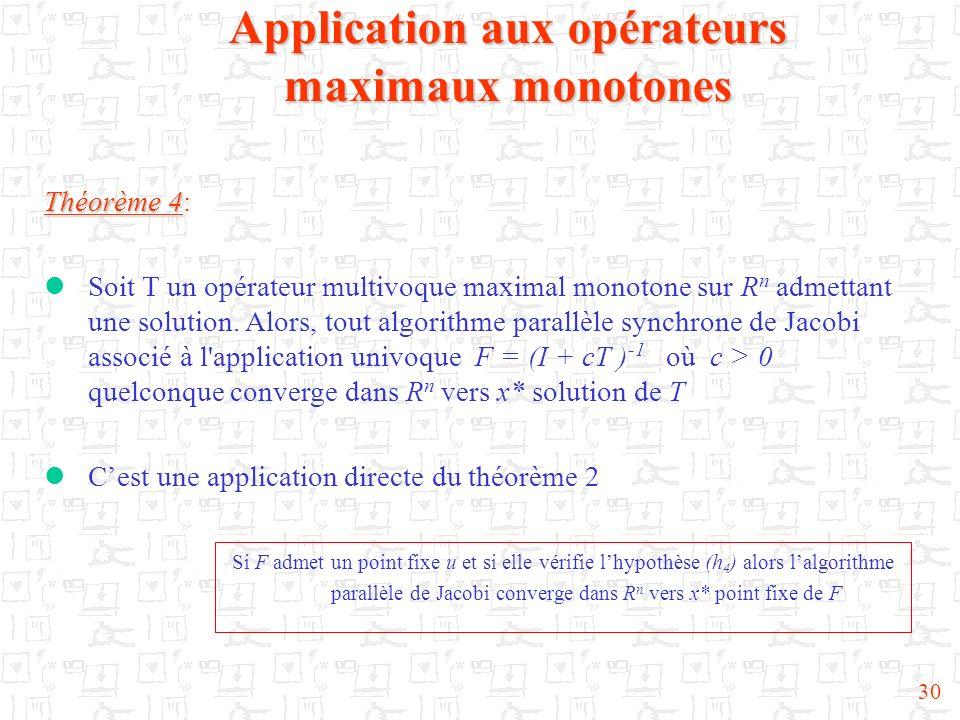 Application aux opérateurs maximaux monotones