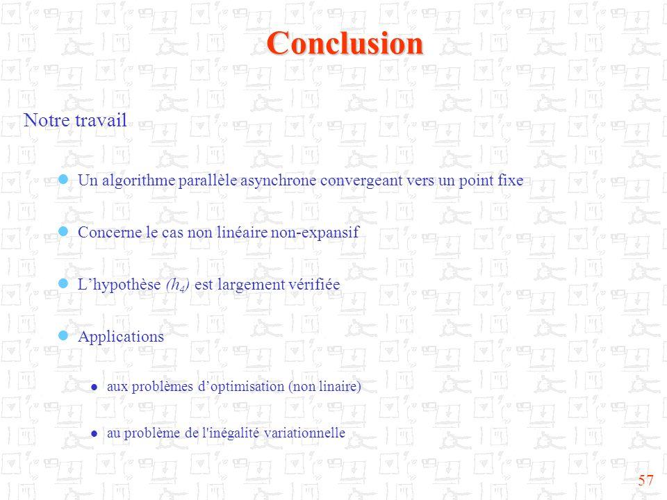 Conclusion Notre travail