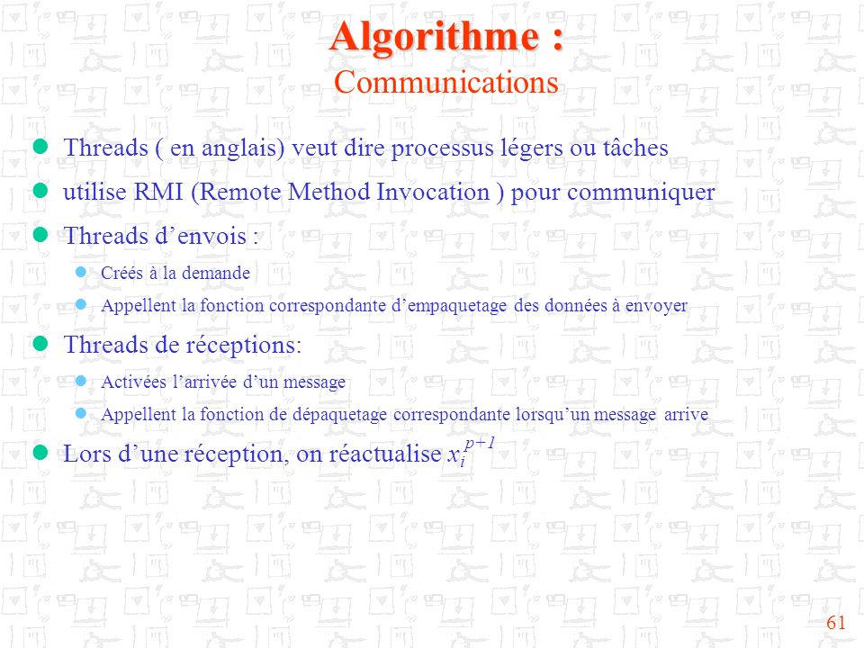 Algorithme : Communications