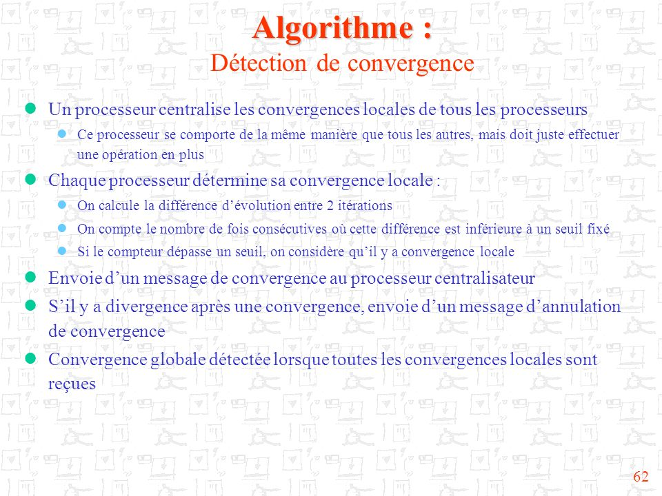 Algorithme : Détection de convergence