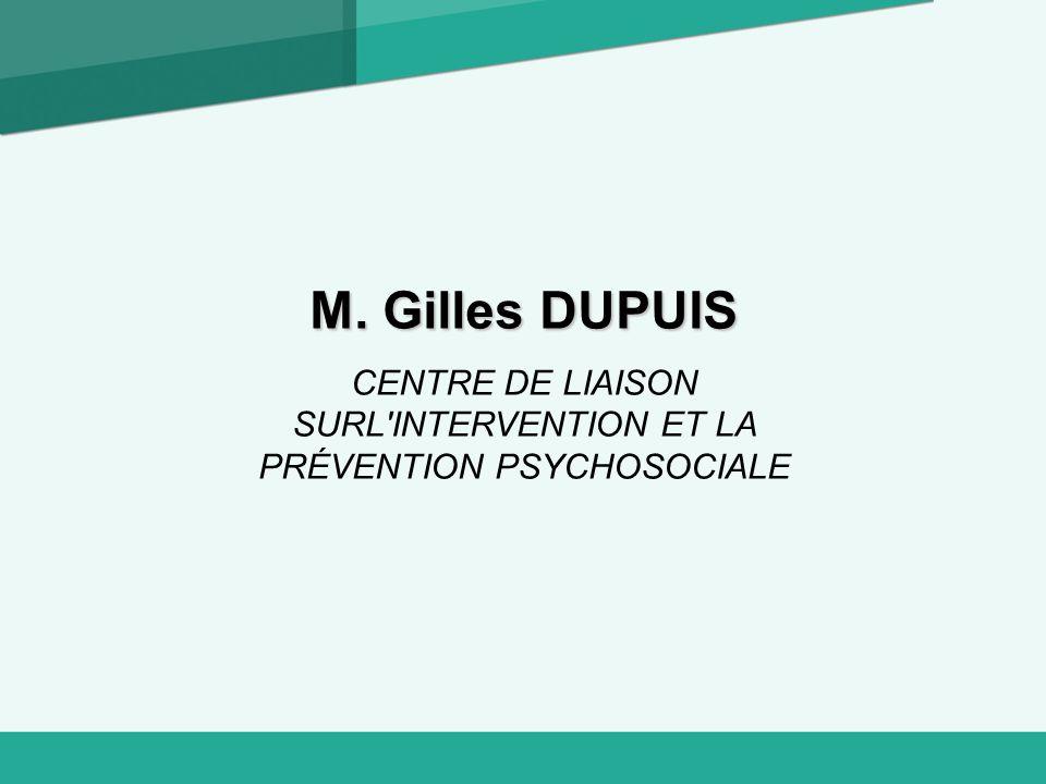 CENTRE DE LIAISON SURL INTERVENTION ET LA PRÉVENTION PSYCHOSOCIALE