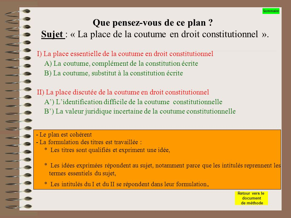 Dissertation De Droit Constitutionnel