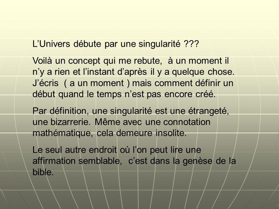 L'Univers débute par une singularité