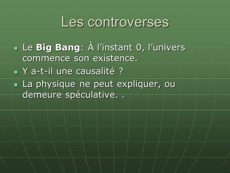 Les controverses Le Big Bang: À l'instant 0, l'univers commence son existence. Y a-t-il une causalité