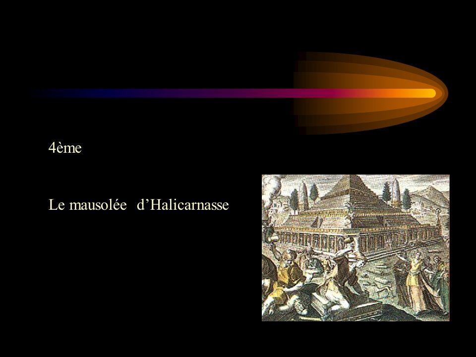 4ème Le mausolée d'Halicarnasse