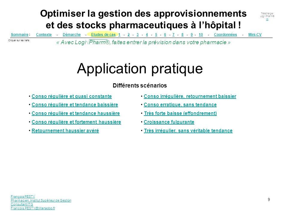 Application pratique Différents scénarios