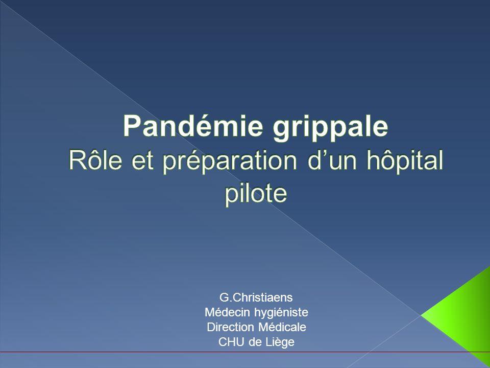 Pandémie grippale Rôle et préparation d'un hôpital pilote