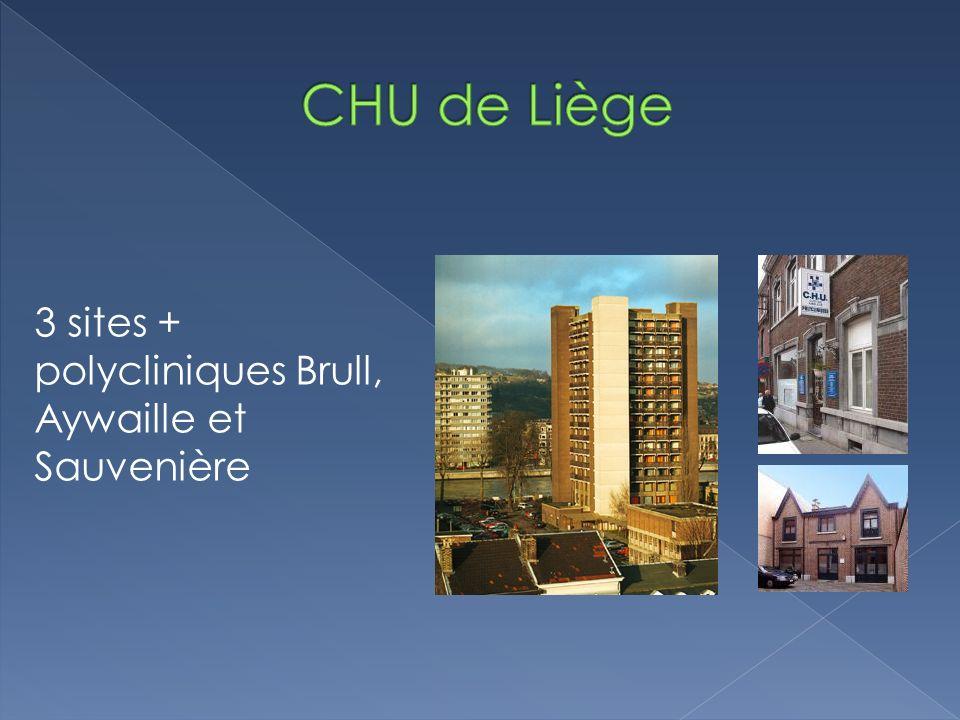 CHU de Liège 3 sites + polycliniques Brull, Aywaille et Sauvenière