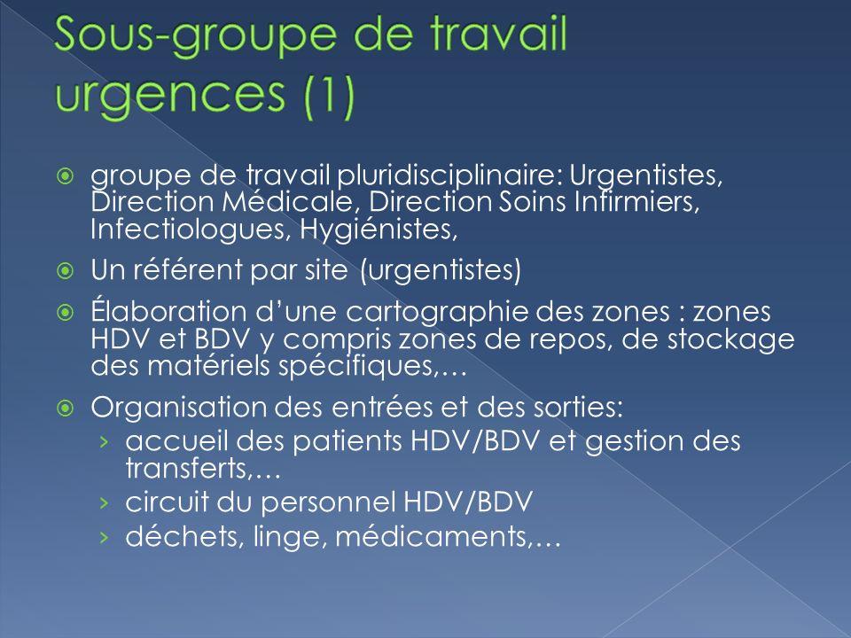 Sous-groupe de travail urgences (1)