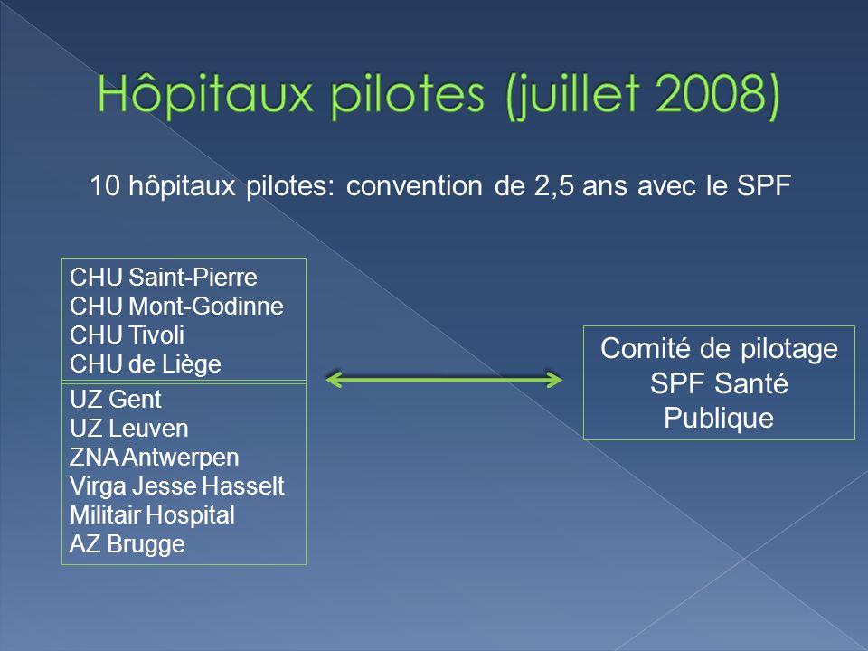 Hôpitaux pilotes (juillet 2008)