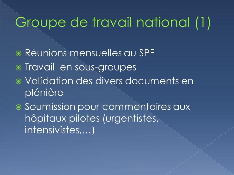 Groupe de travail national (1)