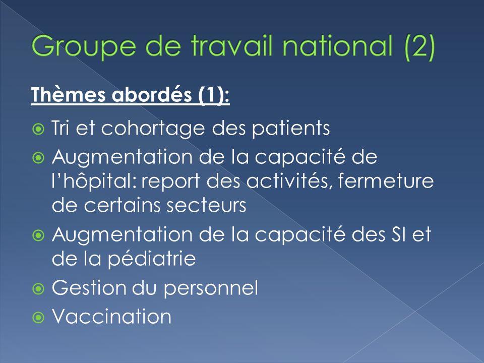 Groupe de travail national (2)