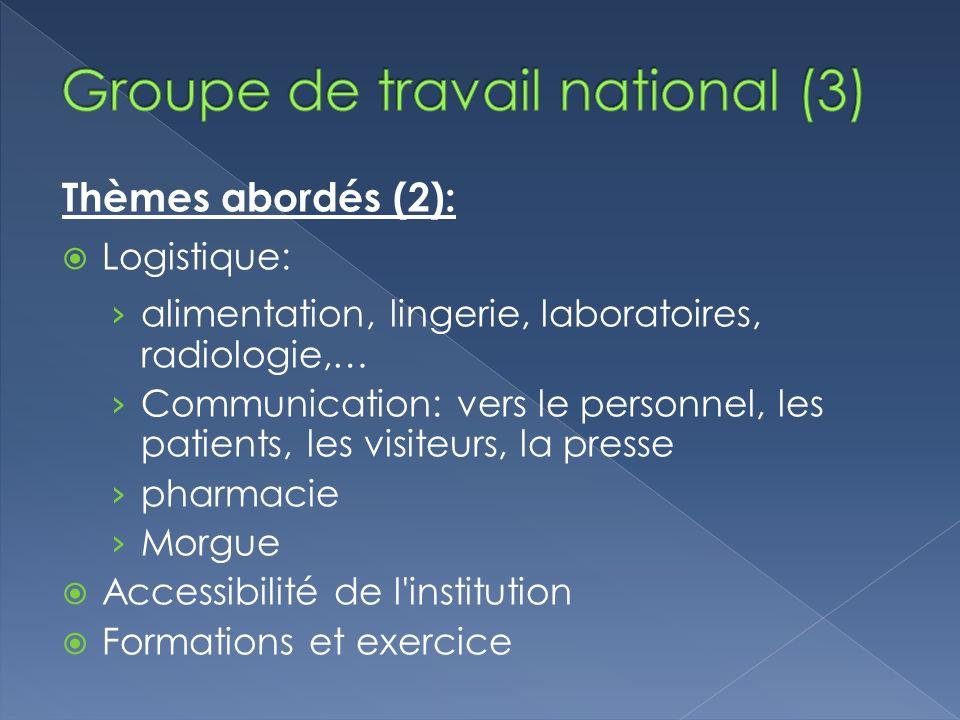 Groupe de travail national (3)