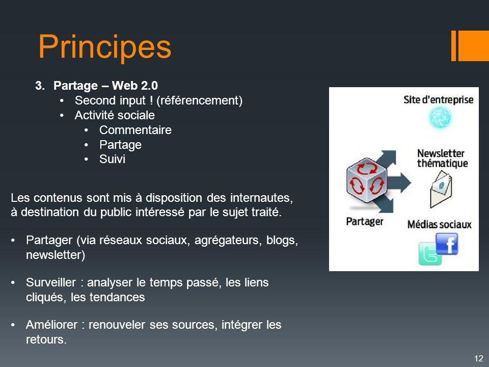 Principes Partage – Web 2.0 Second input ! (référencement)