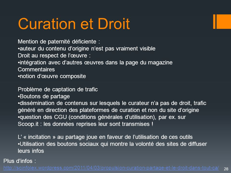 Curation et Droit Mention de paternité déficiente :