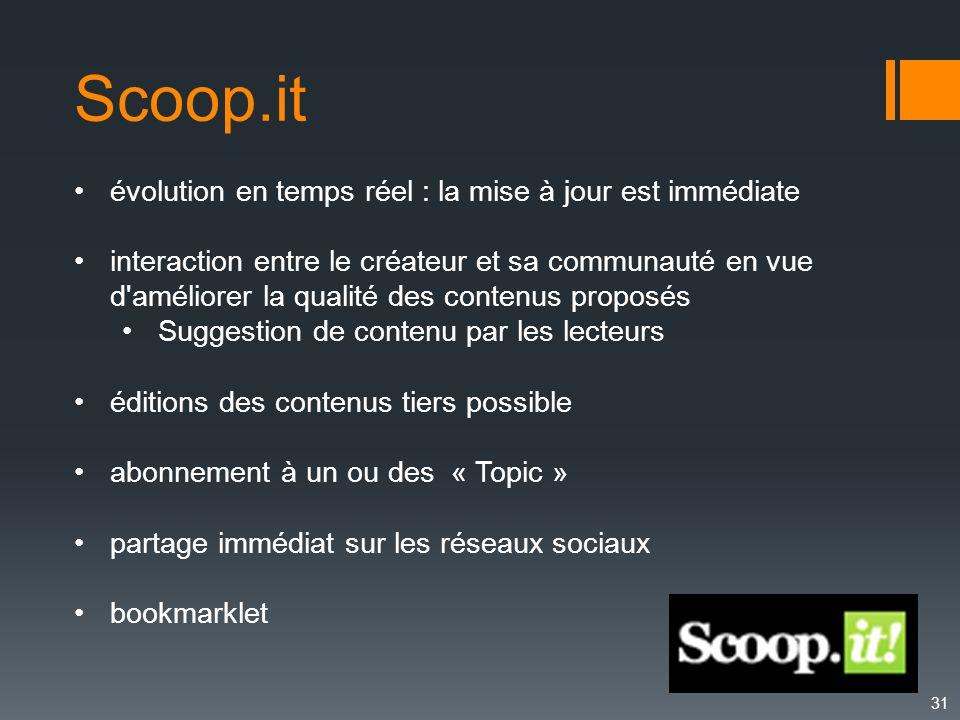 Scoop.it évolution en temps réel : la mise à jour est immédiate